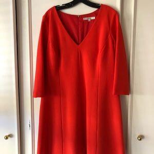 Trina turk red flare dress